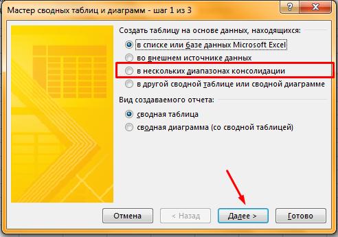 Как сделать сводную таблицу в файле Excel