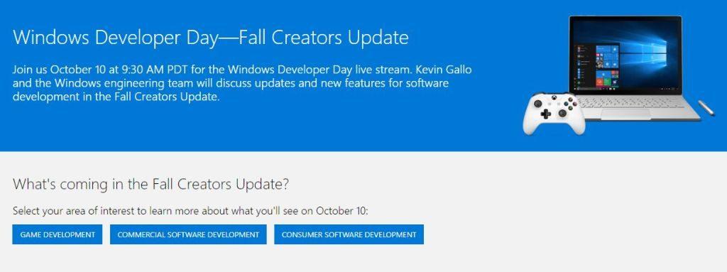 День разработчика Windows 10 октября