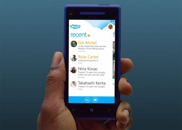 Как будет работать Skype в Windows Phone 8?