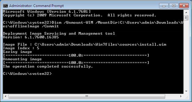 Как интегрировать Convenience Rollup в установочный образ Windows 7