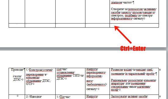 Как написать продолжение таблицы в Ворде