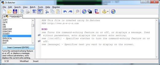 Как сделать файл бат