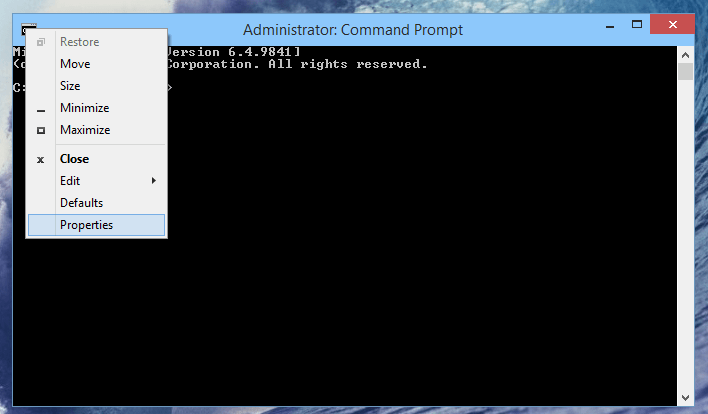 Как сделать прозрачным окно командной строки в Windows 10
