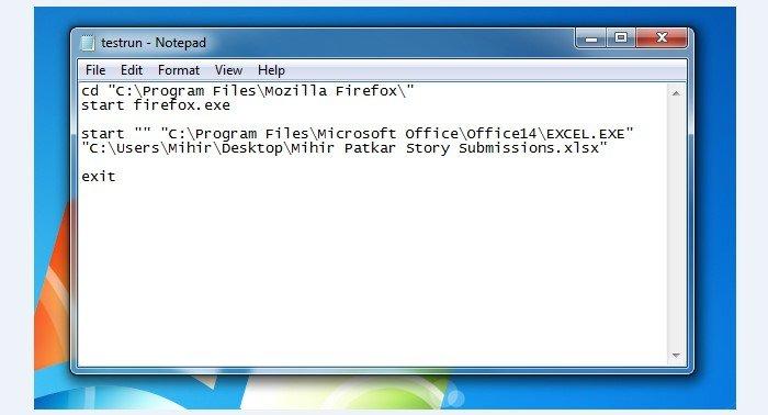 Как создать bat файл в Windows 10