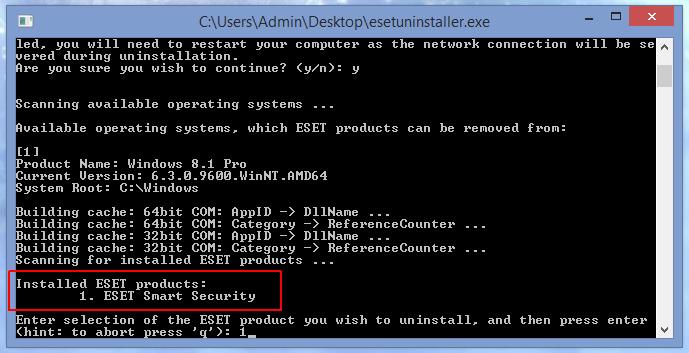 Как удалить ESET Smart Security