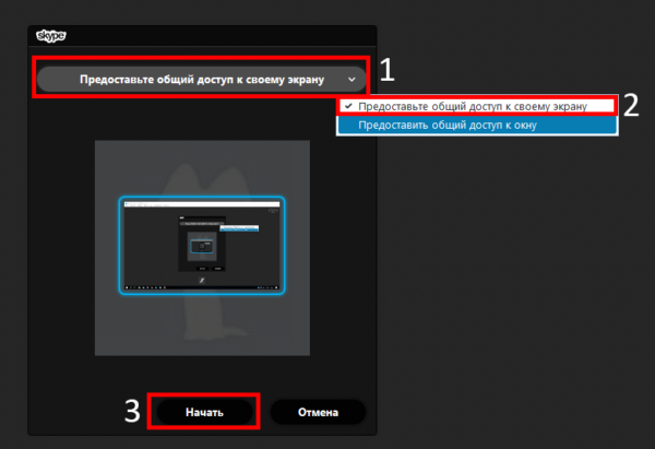 Как в Скайпе сделать демонстрацию экрана