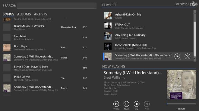 Music DJ – прекрасная альтернатива родному музыкальному плееру в Windows 8 и RT