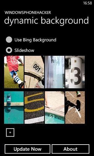 Пользовательское слайд-шоу и динамические обои с Bing на экране блокировки вашего WP7