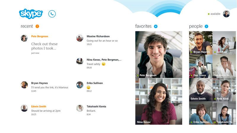Skype для Windows 8 станет доступен 26 октября