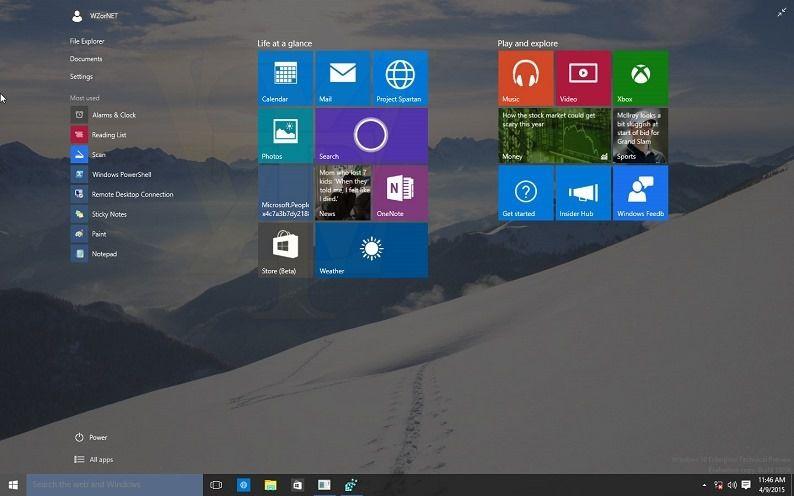 Утечка Windows 10 Build 10056 Technical Preview