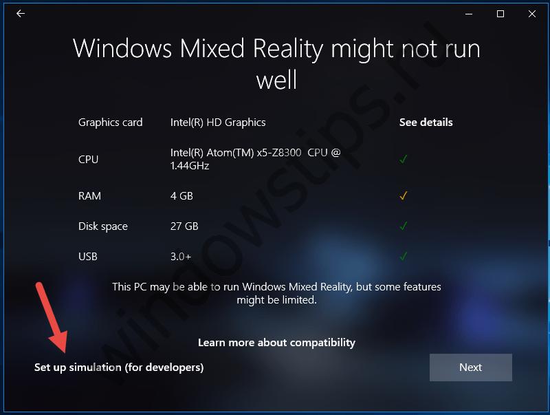В Windows 10 Creators Update будет доступен режим симуляции смешанной реальности