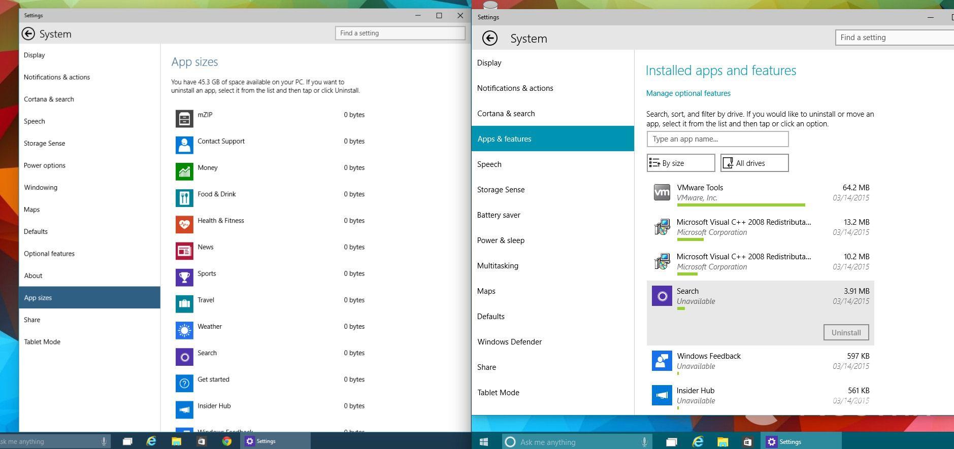Windows 10 build 10036: Более эффективное управление приложениями, обновления через peer-to-peer и другое