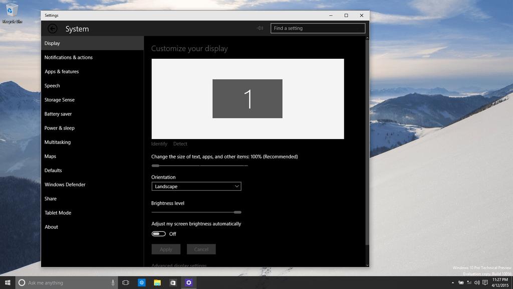 Windows 10 build 10056: как включить скрытую темную тему