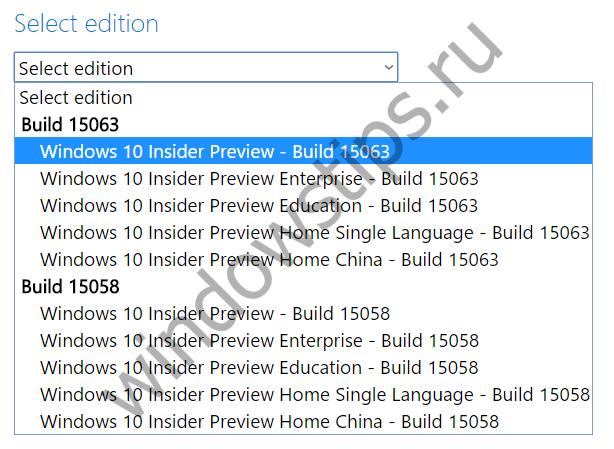 Windows 10 Build 15063: инсайдерам стали доступны официальные ISO-файлы