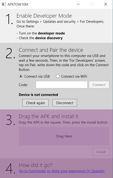 APK TO Windows 10 Mobile: программа для установки Android-приложений на Windows 10 Mobile