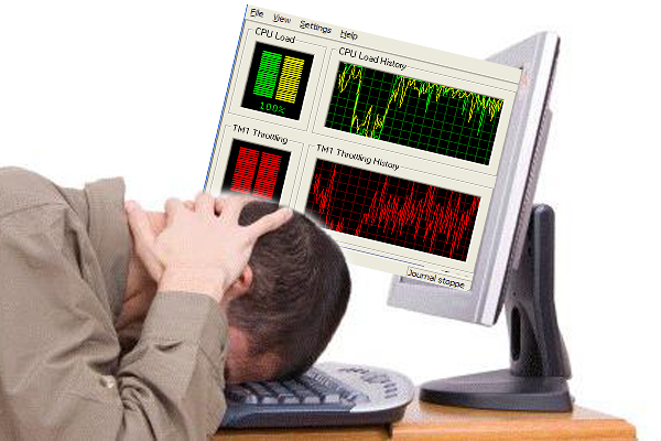 Бездействие системы грузит процессор