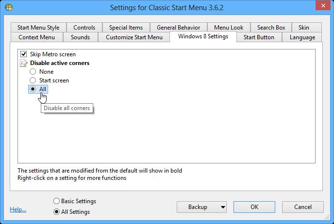 Classic Shell для Windows 8 – добавляем меню «Пуск», отключаем Hot Corners и пропускаем начальный экран