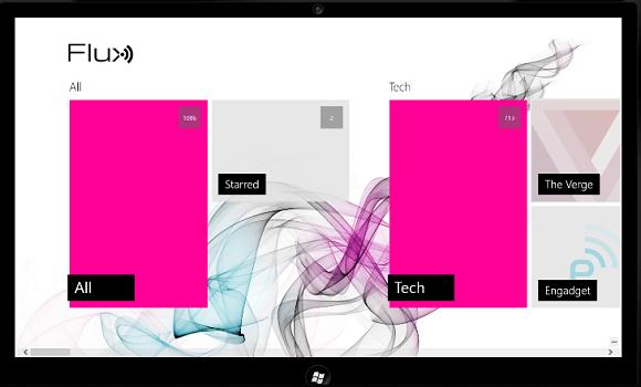 Flux: элегантный клиент Google Reader для Windows 8