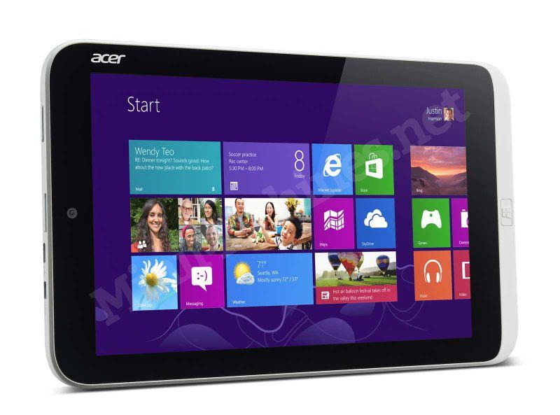 Информация о Acer Iconia W3 с 8-дюймовым экраном и Windows 8