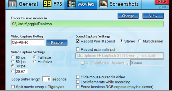 Как записывать видео с экрана компьютера игры