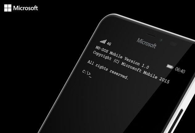 Microsoft выпустила MS-DOS Mobile для Lumia