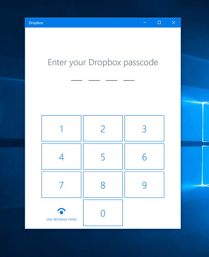 Приложение Dropbox для Windows 10 теперь поддерживает Windows Hello