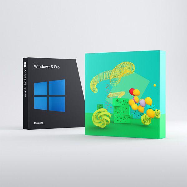 Ранний дизайн коробок с Windows 8
