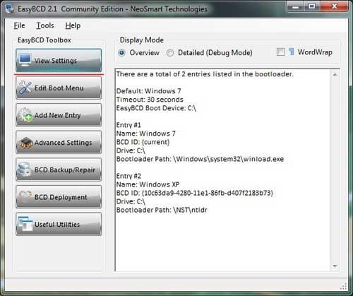 Список загрузки операционных систем
