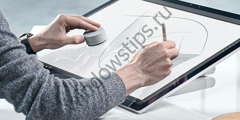 Surface Dial: подробности нового устройства ввода для Surface Studio и планшетов Surface