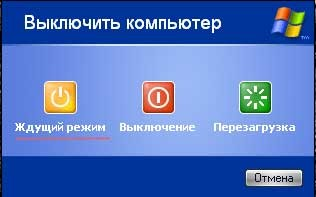Ждущий режим компьютера в Windows XP
