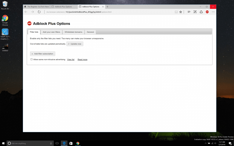 AdBlock и AdBlock Plus доступны для Microsoft Edge
