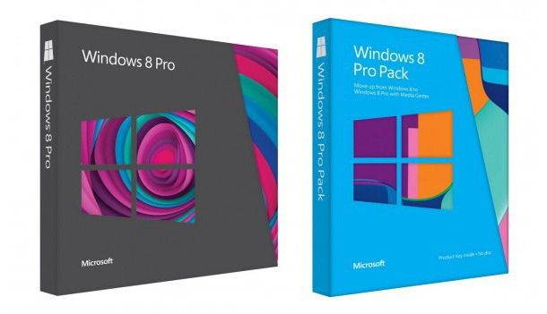 Дизайн коробок с Windows 8 плюс несколько рекламных роликов платформы