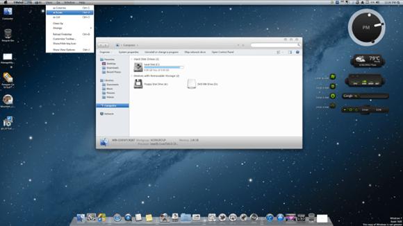 Как превратить Windows 7 и Windows 8 в Mac OS X 10.8 Mountain Lion