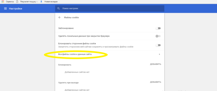 Как удалить куки в Гугл Хром