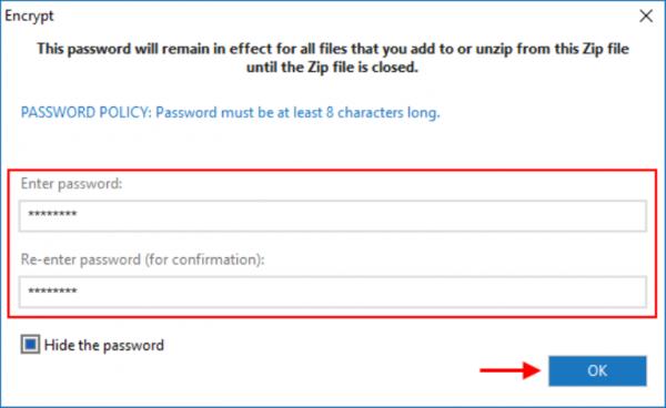 Как установить пароль на архив
