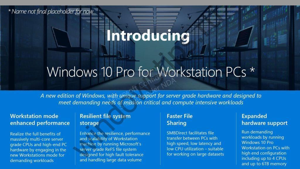 Microsoft объявила о выходе Windows 10 Pro для рабочих станций