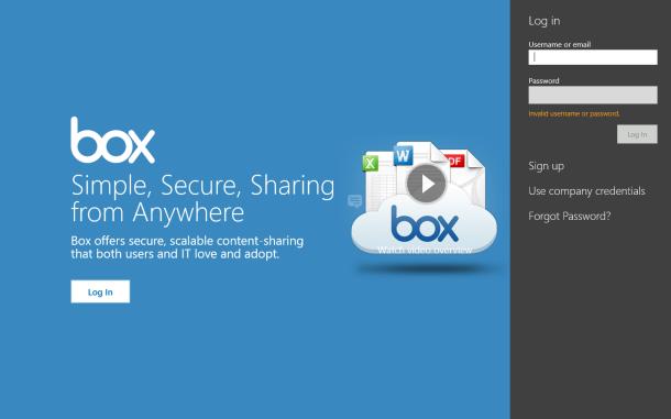 Обзор официального приложения для Windows 8 от популярного облачного сервиса Box
