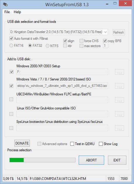 Один загрузочный USB-диск для установки Windows XP, Windows 7 и Windows 8/8.1. Как создать?