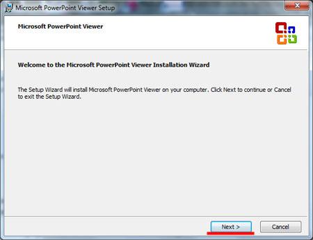 Программа для просмотра презентаций PowerPoint Viewer