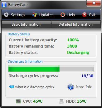 Износ батареи ноутбука