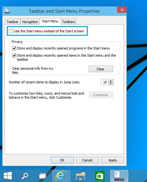 Как включить начальный экран в Windows 10